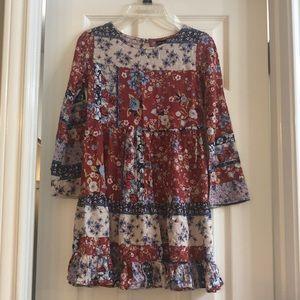 🍁🍂 Boho Girl's fall dress